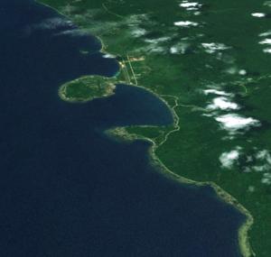 Vanimo - Vanimo coastline from space