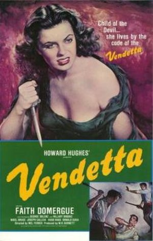 Vendetta (1950 film) - theatrical poster