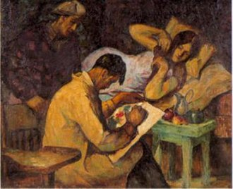 Victorio Edades - The Sketch, 1928, Oil on canvas, 96 x 117 cm