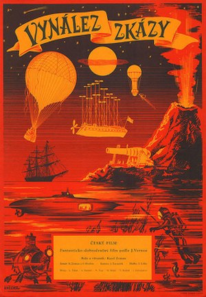 The Fabulous World of Jules Verne - Original Czech film poster