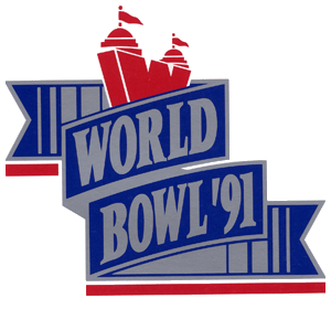 World Bowl 91 logo