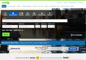 Wotif.com - Image: Wotif.com homepage November 16