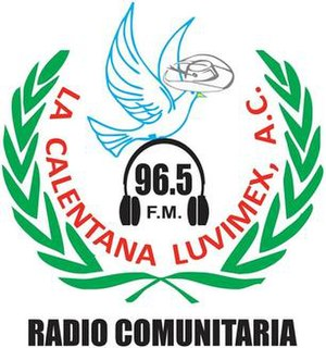 XHLUV-FM - Image: XHLUV La Calentana 96.5 logo