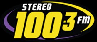 XHSD-FM (Sonora) - Image: XHSD Stereo 100.3fm logo