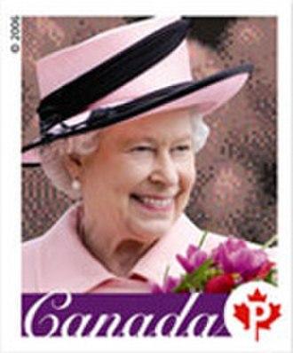 Queen Elizabeth II domestic rate stamp (Canada) - Image: 2006 pstamp EIIR