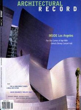 Architectural Record - Image: Architectural Recordcover