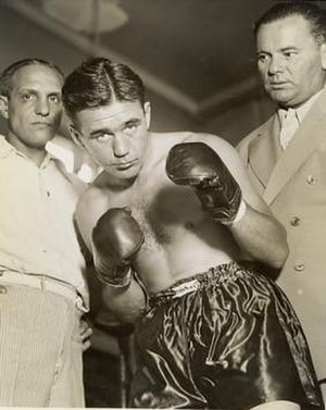 Bruno Ahlberg - Ahlberg with his American coach Artie Rose and manager Paul Damski in 1939