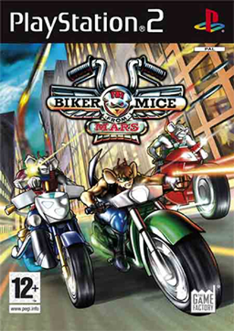 Biker Mice from Mars (2006 video game) - European PlayStation 2 cover art