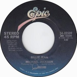 Billie Jean - Image: Billie Jean US 7 inch vinyl Side A