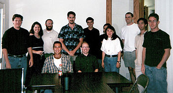 The Bomis staff, summer 2000