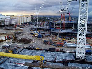 Westfield Doncaster - Image: Construction 0607