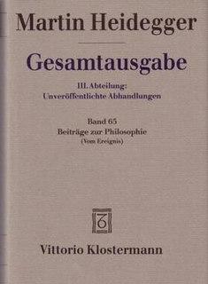 <i>Contributions to Philosophy</i> book by Martin Heidegger