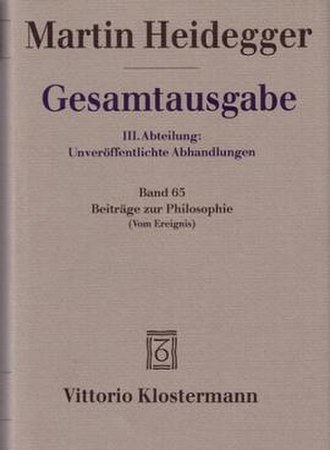 Contributions to Philosophy - Cover of the German edition