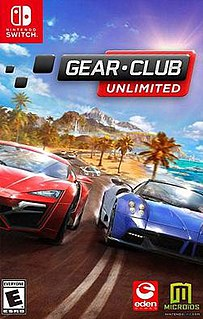 <i>Gear.Club Unlimited</i> 2017 racing video game for Nintendo Switch