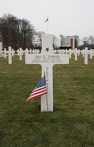 Luxembourg American Cemetery and Memorial - Image: Day Turner Grave
