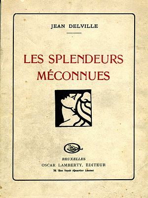 Jean Delville - Cover of Delville's third poetry anthology Les Splendeurs Méconnues (1922)