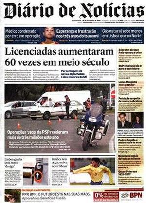Diário de Notícias - Image: Diario De Noticias 20071226