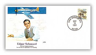 Edgar Schmued - Special US Commemorative Cover issued 1991