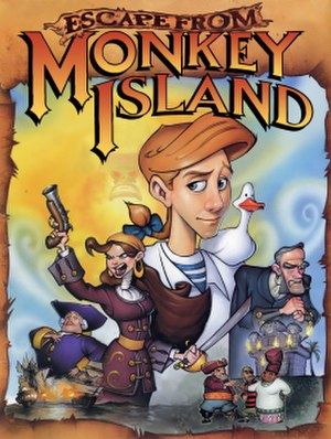 Escape from Monkey Island - Image: Escape from Monkey Island artwork