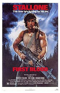 <i>First Blood</i> 1982 US action film directed by Ted Kotcheff