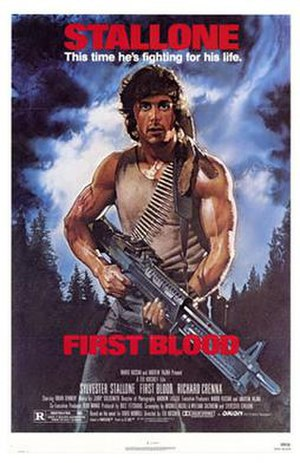 Rambo (film series) - Poster for First Blood.