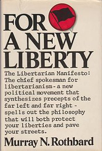 For a New Liberty - Cover of the first edition