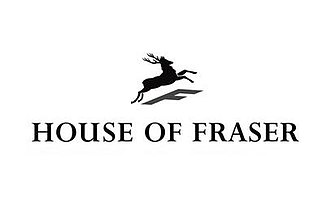 "House of Fraser - Former House of Fraser logo with jumping stag and ""F"" shadow"