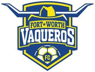 Fort Worth Vaqueros FC - Image: Fort Worth Vaqueros Logo