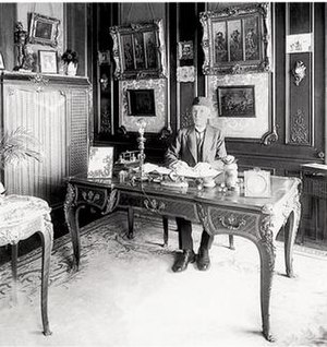 François Linke - Francois Linke at his desk, 32 Quai Henri, Paris, circa 1926