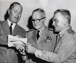 The Gallant Hours - Montgomery, Halsey, and Cagney on set.