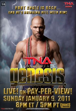 Genesis (2011) - Promotional poster featuring Kurt Angle