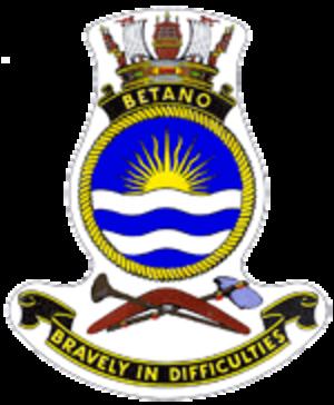 HMAS Betano (L 133) - Ship's badge