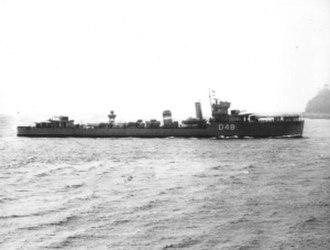 V and W-class destroyer - Image: HMS Vidette (D48)