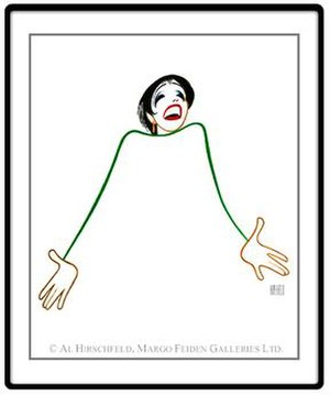 Al Hirschfeld - Image: Hirschfeld's one line drawing of Liza Minnelli