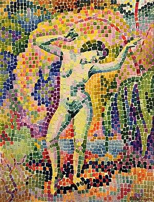 Divisionism - Image: Jean Metzinger, 1906, La dance (Bacchante), oil on canvas, 73 x 54 cm DSC05359.