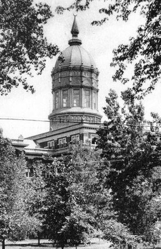 Jesse Hall - Jesse Hall at the time of completion (ca. 1895) with the original wings on the dome
