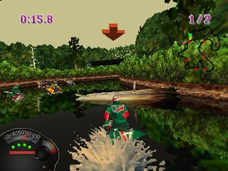 Jet Moto (video game) - In Jet Moto players control hoverbikes known as jet motos. These bikes have the ability to hover over both land and water.