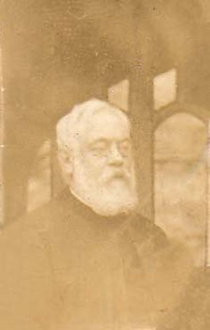 John Langhorne (King's School Rochester) - Langhorne whilst vicar of Lamberhust. Taken on doorstep of Lamberhurst Vicarage
