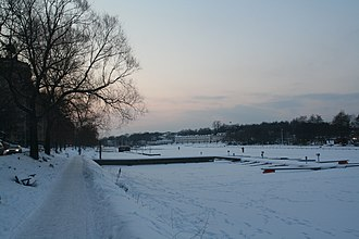 Kungsholmen - The Karlbergskanalen in winter.