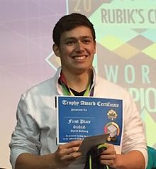 Kevin Hays at the 2015 Rubik's Cube World Championship in Sao Paulo, Brazil.jpg