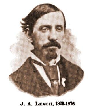Brotherhood of Locomotive Firemen and Enginemen - Joshua A. Leach, founder of the B of LF and Grand Master of the organization from 1873 to 1876.