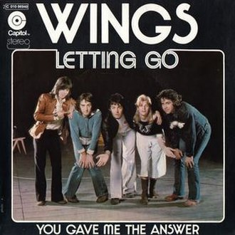 Letting Go (Wings song) - Image: Letting Go & You Gave Me the Answer cover