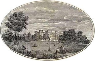 Louisiana State Seminary of Learning & Military Academy - Lithograph of seminary building