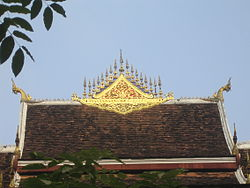Buddhist Temple at Haw Kham (Royal Palace) complex.