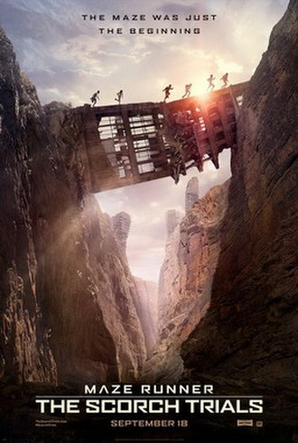 Maze Runner: The Scorch Trials - Theatrical release poster