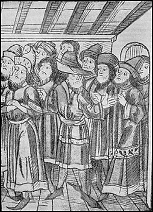 "Alexander I of Moldavia - Emissaries of the church of ""Moldovlahia"" to the Council of Constance in 1415, led by Grigore Ţamblac, and sent by Alexandru cel Bun"