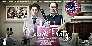 "Nana's Party - ""Nana's Party"" episode poster, featuring (from left to right) Lorraine Ashbourne as Carol, Elsie Kelly as Maggie, Claire Skinner as Angela, Reece Shearsmith as Pat and Steve Pemberton as Jim."