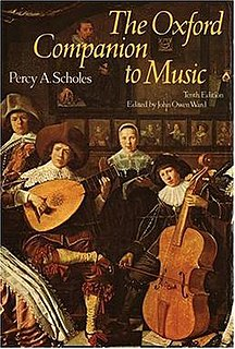 <i>The Oxford Companion to Music</i> reference work