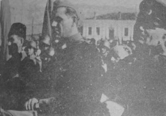 Prilep - Meeting of Bulgarian soldiers and partisans in Prilep, November 1944, after its liberation.