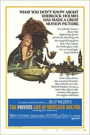 The Private Life of Sherlock Holmes - 1970 film poster by Robert McGinnis